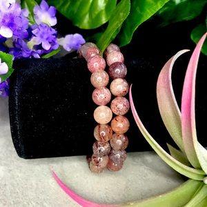 COPY - Strawberry quartz crystal/gemstone bracelet